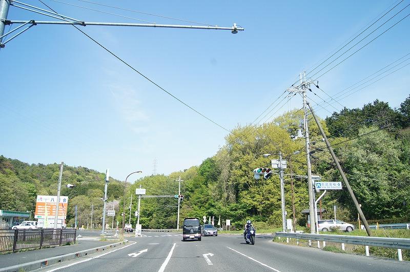 石部高校前を右へ