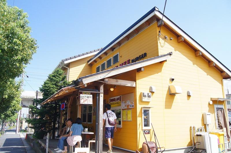 大津市にあるこだわりのハンバーガー屋・アンティミーバーガーの店舗外観